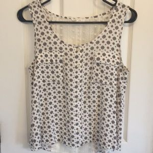 Cute patterned tank top with lace back